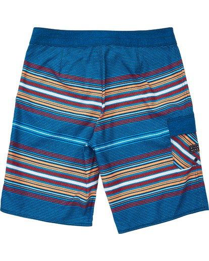 1 Boys' All Day Stripe OG Boardshorts Blue B160TBAD Billabong