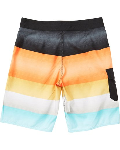 1 Boys' All Day OG Stripe Boardshorts Red B165NBAS Billabong