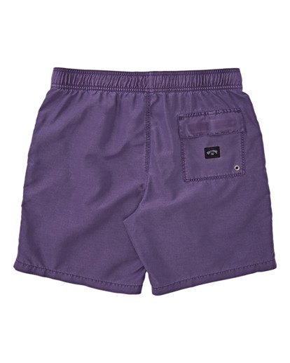 1 Boys' All Day Overdye Layback Boardshorts Purple B1821BAB Billabong