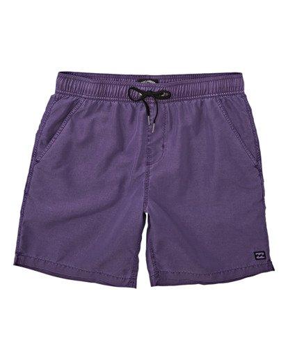 0 Boys' All Day Overdye Layback Boardshorts Purple B1821BAB Billabong