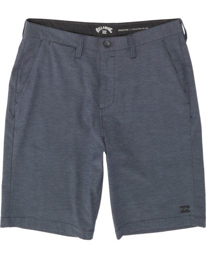 "0 Boys' Crossfire Submersible Walkshort 18"" Blue B2021BCX Billabong"