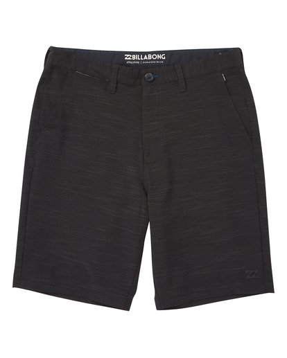 0 Boys' Crossfire X Slub Shorts Black B202VBCS Billabong