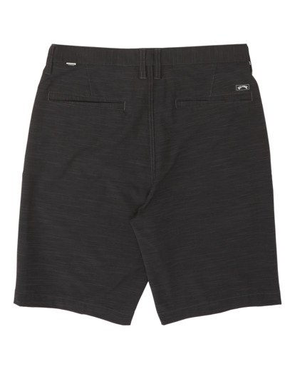 "1 Boys' Crossfire Slub Submersible Walkshort 18"" Black B2031BCS Billabong"