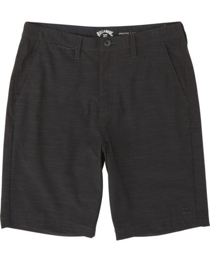 "0 Boys' Crossfire Slub Submersible Short 18"" Black B2031BCS Billabong"