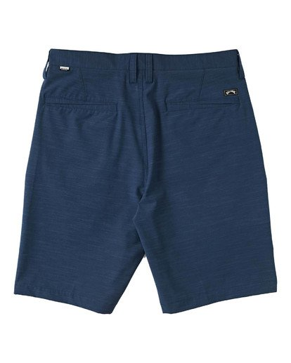 "1 Boys' Crossfire Slub Submersible Walkshort 18"" Blue B2031BCS Billabong"