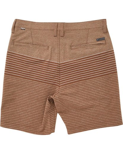 1 Boys' Crossfire X Stripe Shorts Brown B206TBCS Billabong