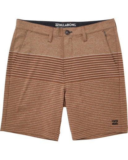 0 Boys' Crossfire X Stripe Shorts Brown B206TBCS Billabong