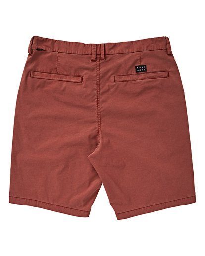 1 Boys' New Order X Ovd Shorts Red B207VBNO Billabong