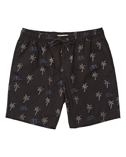 0 Boys' Larry Layback Sunday Walkshorts Black B231TBLS Billabong