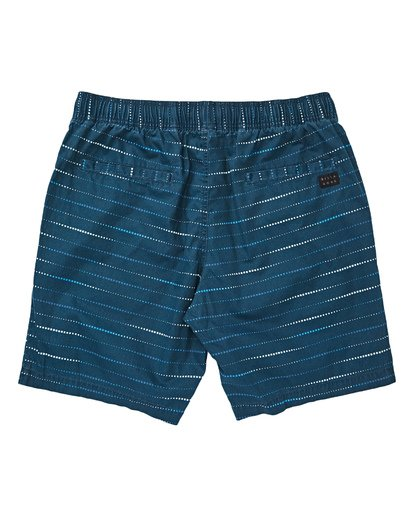 1 Boys' Larry Layback Sunday Walkshorts Blue B231TBLS Billabong