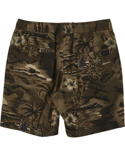 1 Boys' Larry Layback Sunday Boardshorts Green B231TBLS Billabong