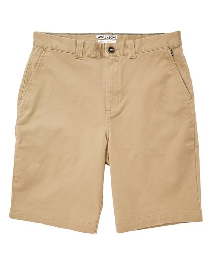 0 Boys' Carter Stretch Shorts Beige B236VBCS Billabong