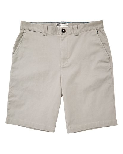 0 Boys' Carter Stretch Shorts Grey B236VBCS Billabong
