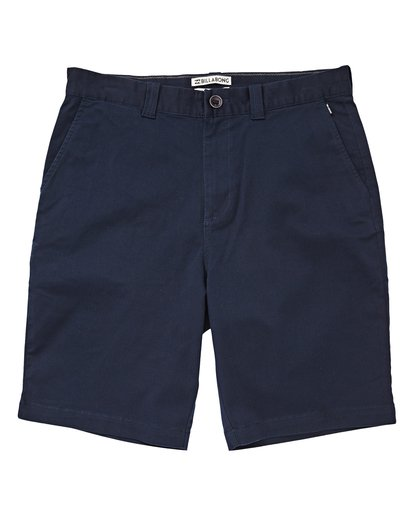 0 Boys' Carter Stretch Shorts Blue B236VBCS Billabong