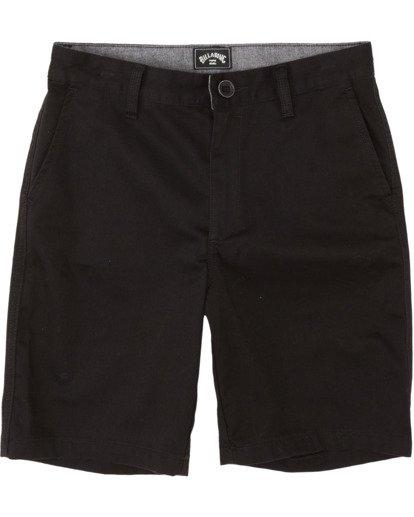 0 Boys' Sandpiper Twill Walkshort Black B2371BST Billabong