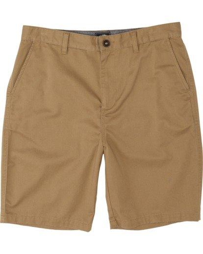 0 Boys' Sandpiper Twill Walkshort Brown B2371BST Billabong