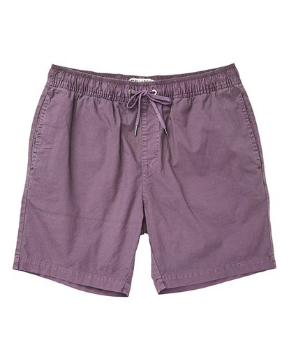 0 Boys' Larry Layback Walkshorts Purple B239TBLL Billabong