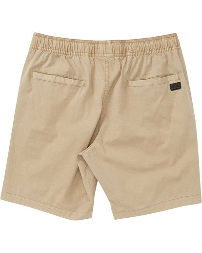1 Boys' Larry Layback Walkshorts Beige B239TBLL Billabong