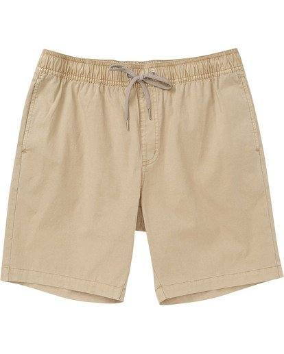 0 Boys' Larry Layback Walkshorts Beige B239TBLL Billabong