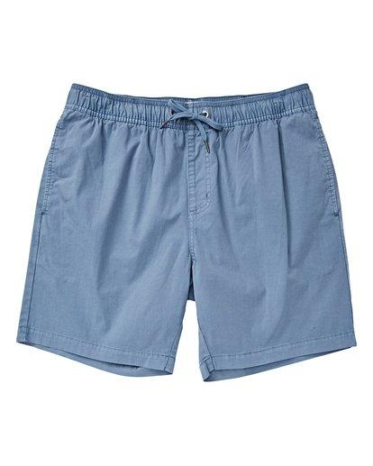 0 Boys' Larry Layback Walkshorts Blue B239VBLL Billabong