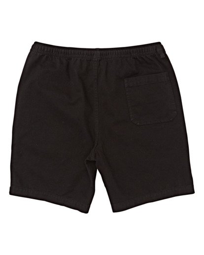 1 Boys' Larry Layback Twill Walkshort Black B2431BLT Billabong