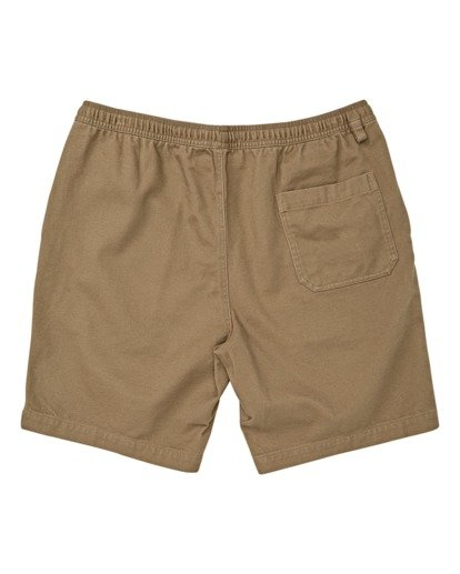 1 Boys' Larry Layback Twill Walkshort Brown B2431BLT Billabong