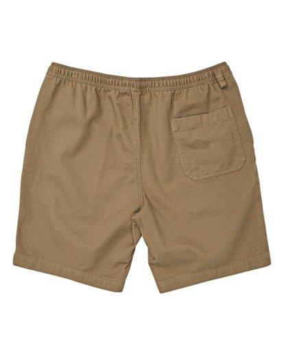"1 Boys' Larry Layback Twill Walkshort 16"" Brown B2431BLT Billabong"