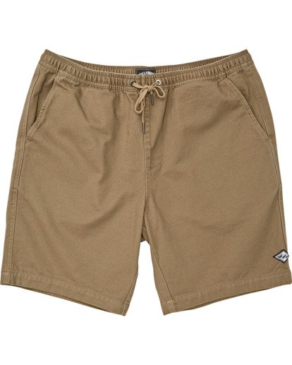 0 Boys' Larry Layback Twill Walkshort Brown B2431BLT Billabong