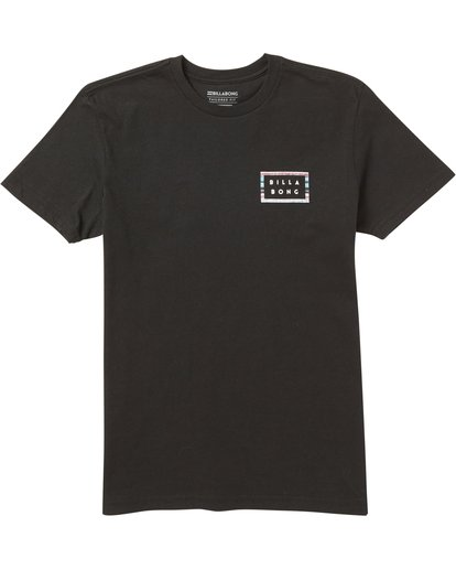 0 Boys' Die Cut Border Tee Shirt Black B401SBDB Billabong