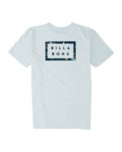 1 Boys' Diecut Short Sleeve T-Shirt Blue B4041BDC Billabong