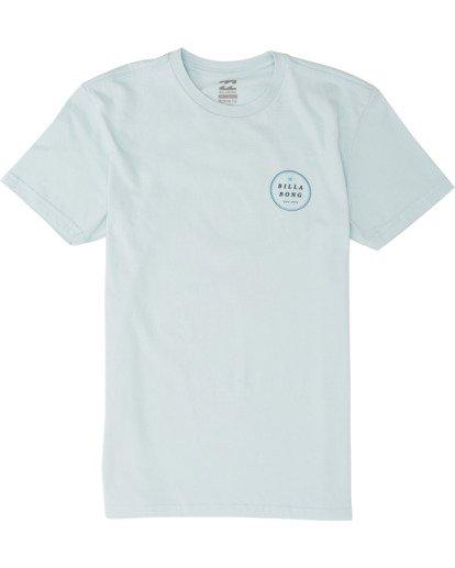 0 Boys' Rotor Short Sleeve T-Shirt Blue B4041BRO Billabong