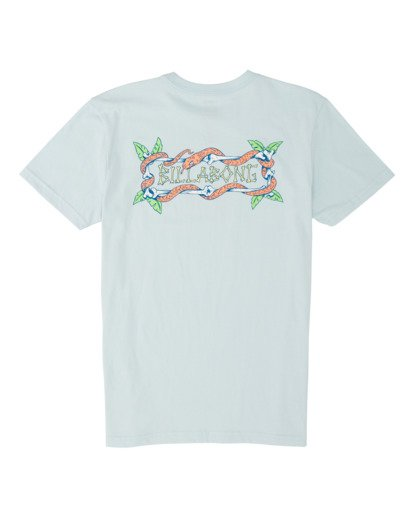1 Boys' Slither Short Sleeve T-Shirt Blue B4041BSL Billabong