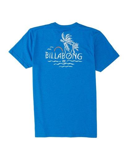 1 Boys' Social Club Short Sleeve T-Shirt Blue B4041BSO Billabong