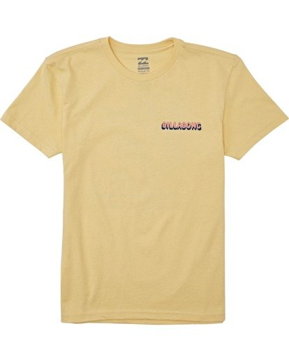 0 Boys' Shreddin Short Sleeve T-Shirt Yellow B4042BSH Billabong
