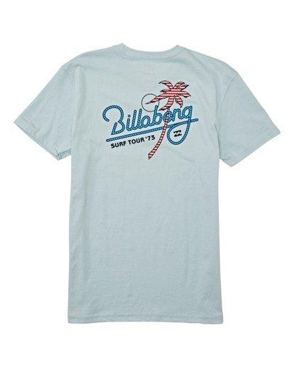 1 Boys' Surf Tour Short Sleeve T-Shirt Blue B4042BST Billabong