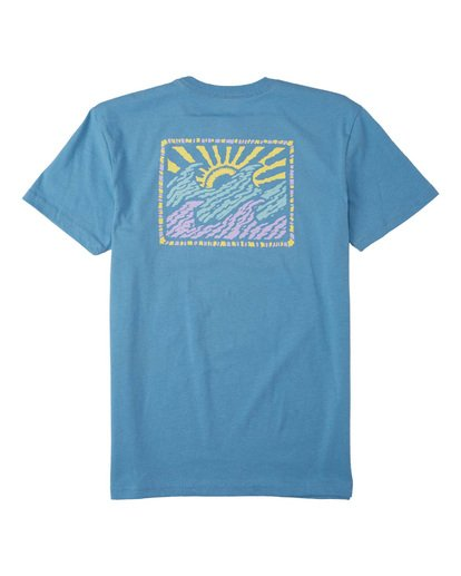 1 Boys' Crayon Wave T-Shirt Grey B4043BCW Billabong
