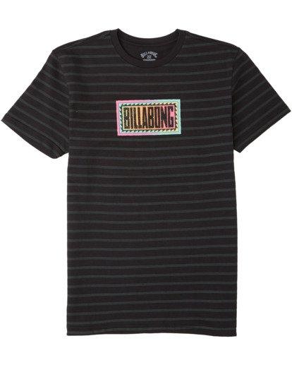 0 Boys' Line Up T-Shirt Black B4043BLU Billabong