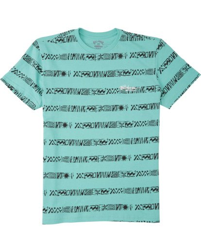 0 Boys' Line Up T-Shirt Black B4043BLU Billabong
