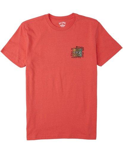 0 Boys' Mondo T-Shirt Orange B4043BMO Billabong