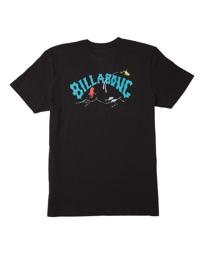 1 Boys' Red Fish T-Shirt Black B4043BRF Billabong