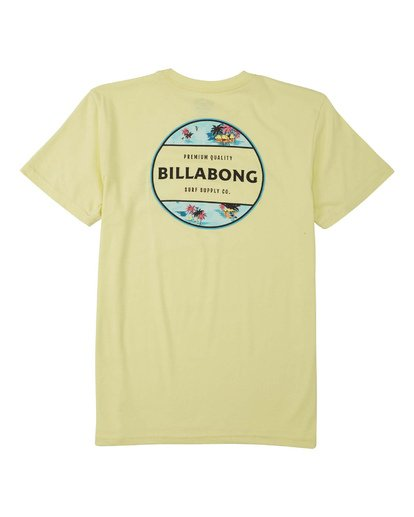 1 Boys' Rotor T-Shirt Yellow B4043BRO Billabong