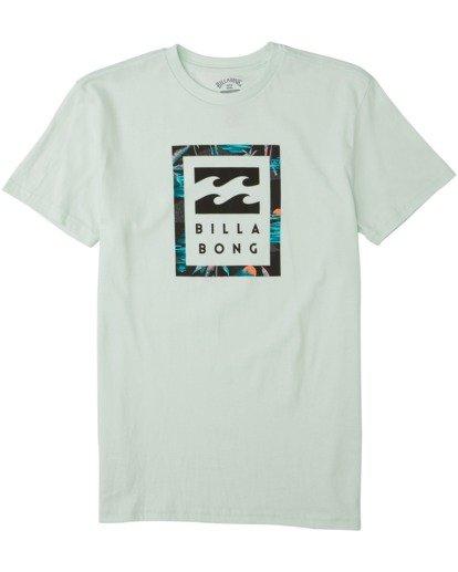 0 Boys' United Stacked T-Shirt Multicolor B4043BUS Billabong
