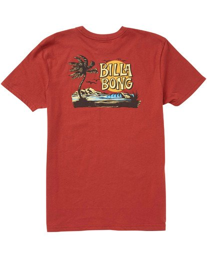 1 Boys' Tradewind T-Shirt Red B404TBTW Billabong