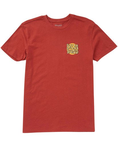 0 Boys' Tradewind T-Shirt Red B404TBTW Billabong