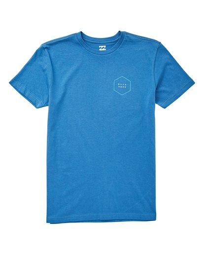0 Boys' Access Border T-Shirt Blue B404UBAC Billabong