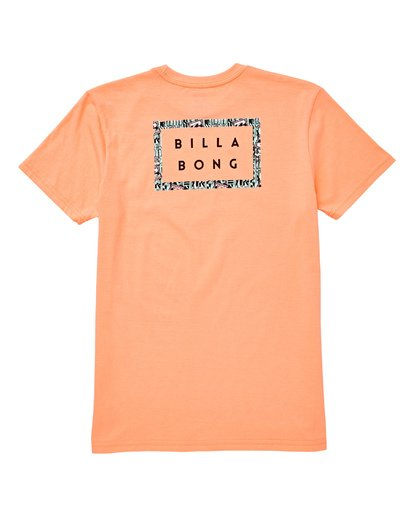 1 Boys' Diecut Tee Orange B404UBDC Billabong