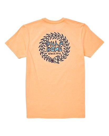 1 Boys' Fishtail T-Shirt Orange B404UBFT Billabong