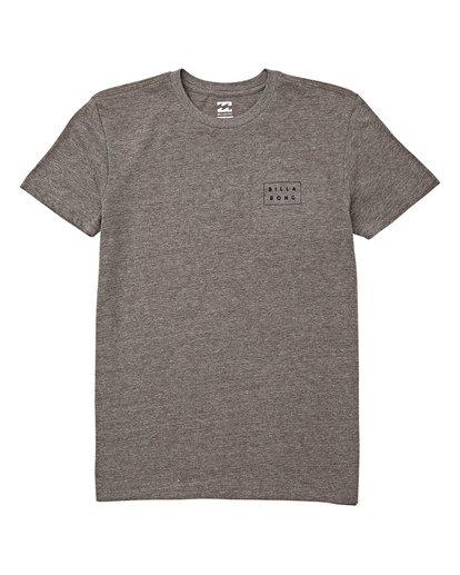 0 Boys' Diecut Short Sleeve T-Shirt Grey B404WBDC Billabong