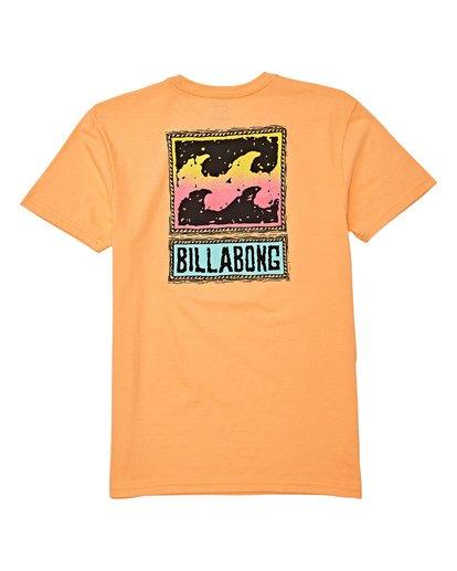 1 Boys' Fifty Wave Short Sleeve T-Shirt Orange B404WBFW Billabong