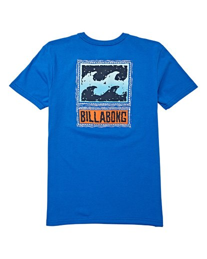1 Boys' Fifty Wave Short Sleeve T-Shirt Blue B404WBFW Billabong